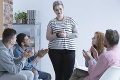 Girl and support group Royalty Free Stock Images