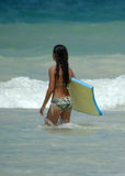 Girl surfer Stock Images