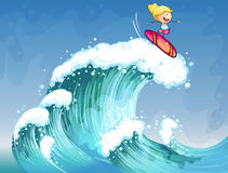 A girl surfing Royalty Free Stock Images