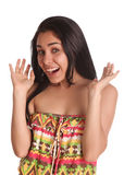 Girl Surprise Stock Photography