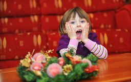 Girl surprised Royalty Free Stock Photos