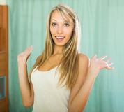 Girl surprised close up shoot Royalty Free Stock Photos