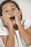 girl with surprised look  Royalty Free Stock Photos