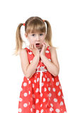 Girl surprised by news Stock Photography