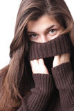 Girl in sweater Royalty Free Stock Image