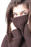 Girl in sweater Stock Photo