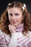 Girl in sweater Royalty Free Stock Images