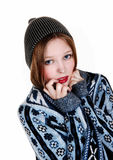 Girl in sweater and hat. Stock Image