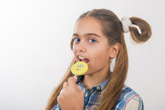 Girl and sweet Royalty Free Stock Image