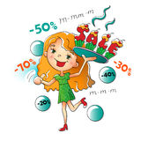 Girl with a sweet hot sale Royalty Free Stock Images