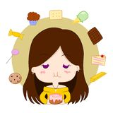 Girl with sweets Royalty Free Stock Image