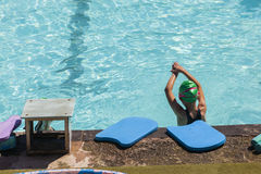 Girl Swim Lessons Stock Photography