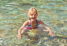 Girl in swim pool Royalty Free Stock Photos
