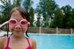 Girl swimmer Stock Image