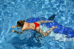 Girl swimming Royalty Free Stock Photo