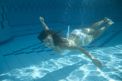 Girl swimming Royalty Free Stock Photography