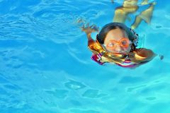 Girl and swimming Stock Photos