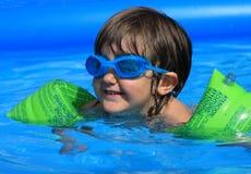 Girl swimming stock photos