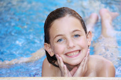 Girl swimming Royalty Free Stock Image