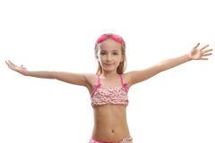 Girl  in  swimming costume Stock Image