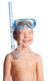 Girl in swimming mask Stock Photo