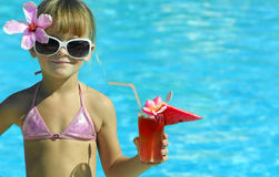 Girl in the swimming pool Royalty Free Stock Images