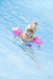 Girl in a swimming-pool Royalty Free Stock Photo