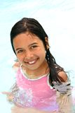 Girl in swimming pool Royalty Free Stock Images