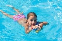 Girl in swimming pool Stock Photo