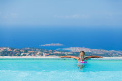 Girl at swimming pool Royalty Free Stock Photo