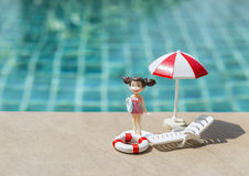 Girl at the swimming pool Royalty Free Stock Photos