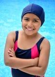 Girl in the swimming pool. Stock Photo