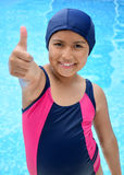Girl in the swimming pool. Royalty Free Stock Image