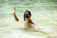 Free Girl Swims In The Sea Stock Photos - 82335373