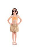 Girl in a swimsuit, beachwear, studio shot Royalty Free Stock Photography
