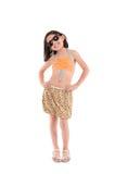 Girl in a swimsuit, beachwear, studio shot Stock Photos