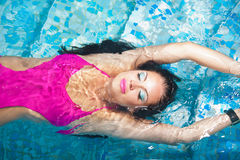 Girl in a swimsuit Stock Photography