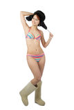 Girl in swimsuit smile Royalty Free Stock Photo