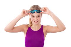 Girl in a swimsuit Royalty Free Stock Photos