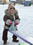 The girl on a swing Royalty Free Stock Images