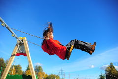 The girl on a swing Royalty Free Stock Photography