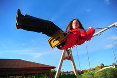 The girl on a swing Stock Photography