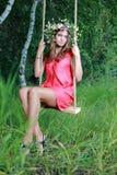 girl on swing Stock Image