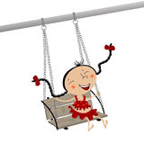 Girl on a swing Stock Photo