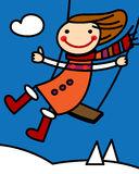 Girl on a swing Royalty Free Stock Image