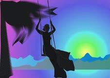 Girl on swing Royalty Free Stock Photo
