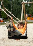 Girl on the swing stock photos