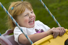 Girl on Swing Stock Photography