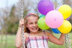 Girl on swing Royalty Free Stock Photography