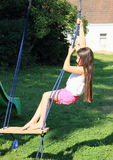 Kid - girl on swing Stock Photography